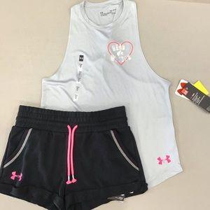 🆕️Under Armour Twist Tank & shorts